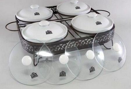 Набор из четырех керамических мармитов